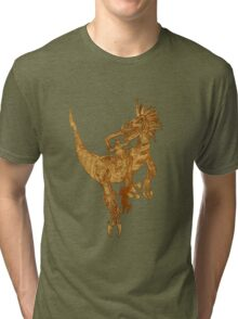 Clockwork Velociraptor Tri-blend T-Shirt