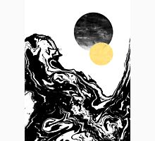 Eugenia - water ocean marble swirl black and white gold foil galaxy planet star space cosmic Classic T-Shirt