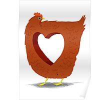 Chicken heart Poster