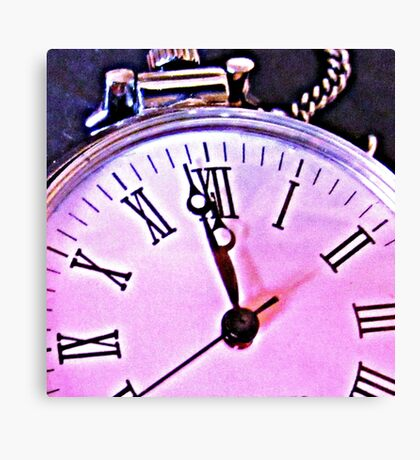 Zeit  - time Clock - Uhr Canvas Print