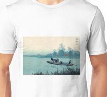 Ferryboat - Konen Uehara - 1900 - woodcut Unisex T-Shirt