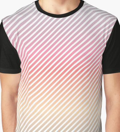 Pastel Fade | White Stripes Graphic T-Shirt