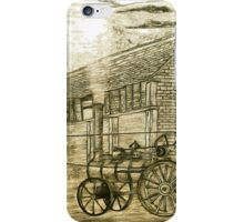 Steam Threshing in South Elmsall, Yorkshire early 1940s iPhone Case/Skin