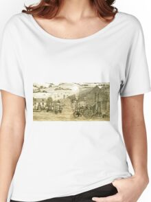 Steam Threshing in South Elmsall, Yorkshire early 1940s Women's Relaxed Fit T-Shirt
