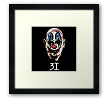 31 The Evil Clowns Horror Movie 2016 Directed by Rob Zombies Framed Print
