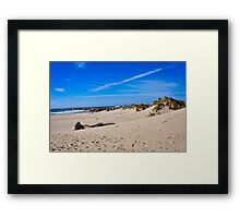 Newport Oregon - On A Clear Day At The Beach Framed Print