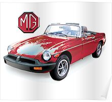 MGB red Rubber Bumper Poster