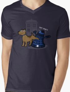 Doctor Wuff Mens V-Neck T-Shirt