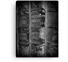 old Books black white - alte Bücher schwarz weiß Canvas Print