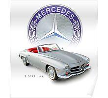 Mercedes 190sl Poster