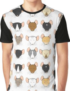 Ratty Faces Graphic T-Shirt