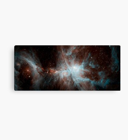 A colony of hot young stars in the Orion Nebula. Canvas Print