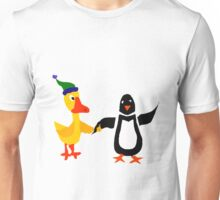 Funny Cool Duck and Penguin Friends Unisex T-Shirt