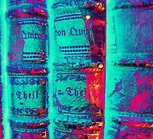 old Books - alte Bücher psychodelic by Marion Waschk