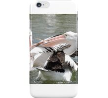 Pelicans compete for lunch iPhone Case/Skin