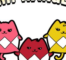 Purr Rangers Sticker