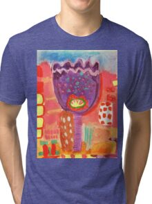purple tulip Tri-blend T-Shirt