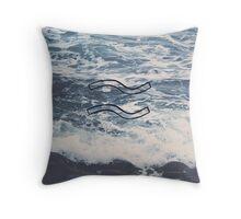 Water Symbol Throw Pillow