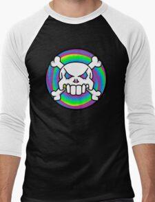 Psychedelic skull Men's Baseball ¾ T-Shirt