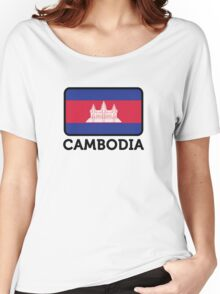 National flag of Cambodia Women's Relaxed Fit T-Shirt