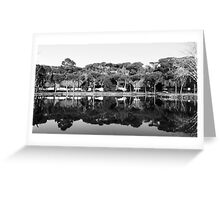 Winter In The Mirror Greeting Card