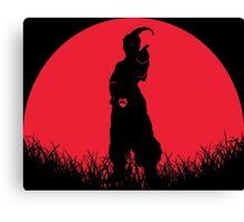 Super Buu Red Moon Canvas Print