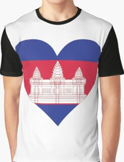 A heart for Cambodia Graphic T-Shirt