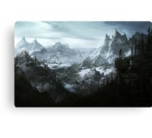 Skyrim Landscape Canvas Print