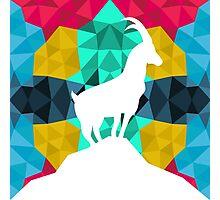 Origami Goat Photographic Print