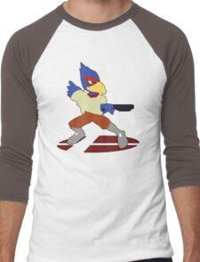 Falco - Super Smash Bros Melee Men's Baseball ¾ T-Shirt