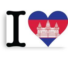 I Love Cambodia Canvas Print