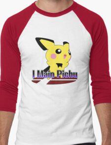 I Main Pichu - Super Smash Bros Melee Men's Baseball ¾ T-Shirt