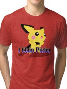 I Main Pichu - Super Smash Bros Melee Tri-blend T-Shirt