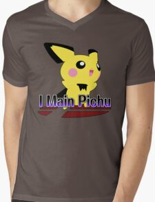 I Main Pichu - Super Smash Bros Melee Mens V-Neck T-Shirt