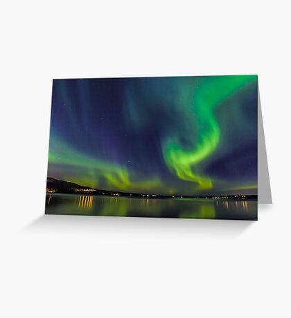 Northern Light in north Sweden Greeting Card