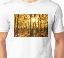 Impressions of Forests - Sunburst in the Golden Forest  Unisex T-Shirt