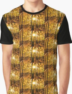Impressions of Forests - Sunburst in the Golden Forest  Graphic T-Shirt