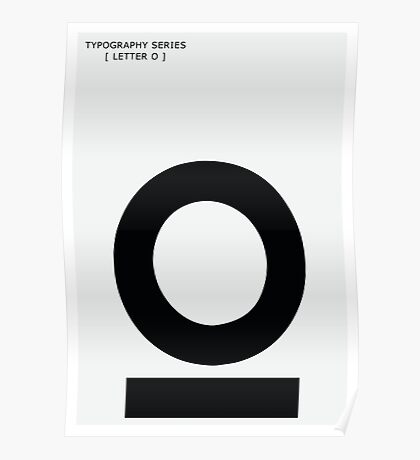 Letter O Typography Poster