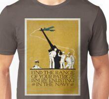 Vintage World War II Navy Recruitment Patriotic Unisex T-Shirt