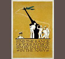 Vintage World War II Navy Recruitment Patriotic T-Shirt