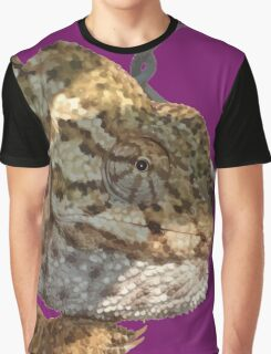Chameleon Hanging On A Wire Fence Vector Graphic T-Shirt
