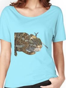 Chameleon Hanging On A Wire Fence Vector Women's Relaxed Fit T-Shirt