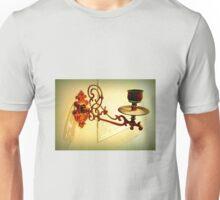 Antique piano candle holder Unisex T-Shirt