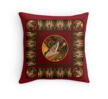 Christmas Harp Throw Pillow
