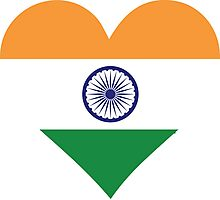 A heart for India Photographic Print