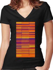 Sunrise spectrum data glitch Women's Fitted V-Neck T-Shirt
