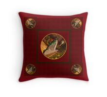 Christmas Pedal Harp Throw Pillow
