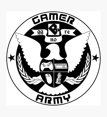 Gamer Army Photographic Print