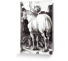 Albrecht Durer,  THE LARGE HORSE Greeting Card