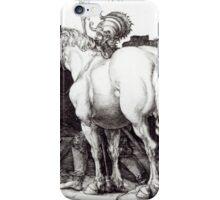 Albrecht Durer,  THE LARGE HORSE iPhone Case/Skin